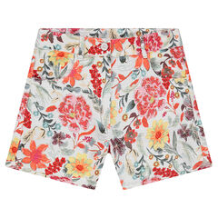 Junior - Short en coton natté imprimé fleurs all-over