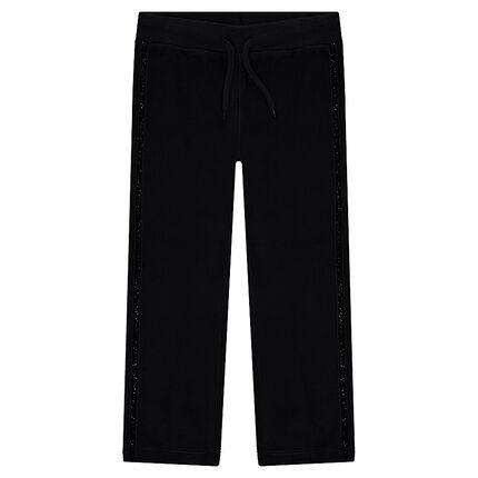 Pantalon de jogging en velours avec bandes pailletées