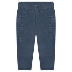 Pantalon surteint avec découpes à croisillons