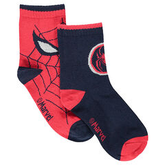 Lot de 2 paires de chaussettes assorties motif jacquard ©Marvel Spiderman
