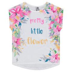 Junior - Tee-shirt manches courtes forme boîte en jersey imprimé