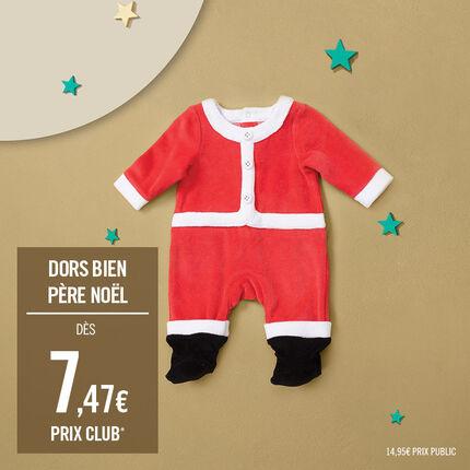 Dors-bien en velours façon costume Père Noël