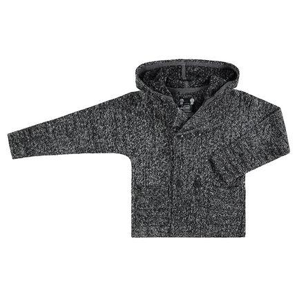 Junior - Gilet à capuche en tricot twisté avec poches