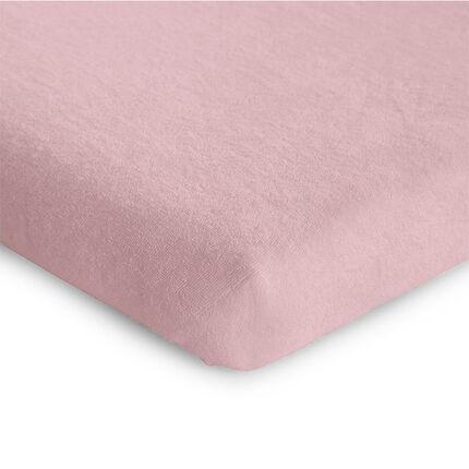 Housse de matelas de parc tricot pastel old pink 75 x 95 cm