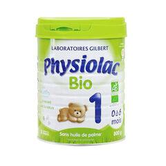 Lait en poudre Physiolac Bio 1 - 800g