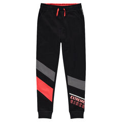 Junior - Pantalon de jogging en molleton avec bandes contrastées 8987cdf6f77