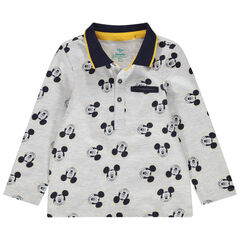 Polo manches longues imprimé Mickey all-over Disney
