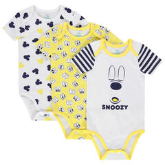 Lot de 3 bodies manches courtes print Mickey Disney
