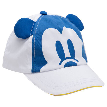 Casquette en twill avec print Mickey Disney et oreilles en relief