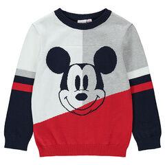 Pull en tricot avec Mickey ©Disney en jacquard