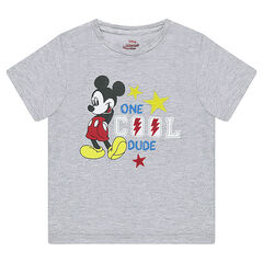 Tee-shirt manches courtes en jersey ©Disney print Mickey