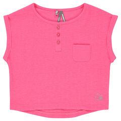 Tee-shirt court manches courtes côtelé