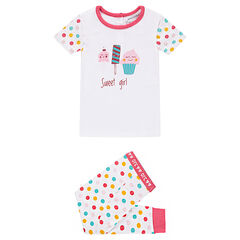 Pyjama en jersey avec friandises printées et pois colorés