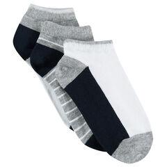 Lot de 3 paires de chaussettes courtes assorties