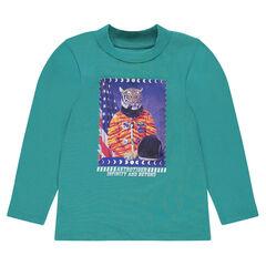Junior - Sous-pull en jersey avec print fantaisie