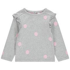Pull en tricot avec souris et noeud en relief