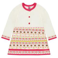 Robe en tricot manches longues à motif jacquard