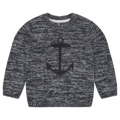 Pull en tricot twisté avec print fantaisie