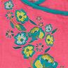 Pyjama long en velours avec fleurs brodées
