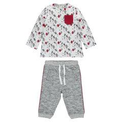 Ensemble tee-shirt imprimé all-over et pantalon en molleton