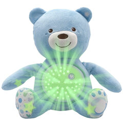 Ourson projecteur First Dreams Baby Bear - Bleu