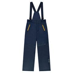 Junior - Pantalon de ski uni à bretelles amovibles et poches zippées