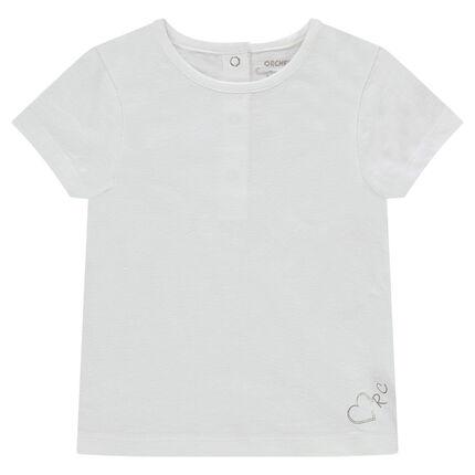 Tee-shirt manches courtes en jersey avec logo printé