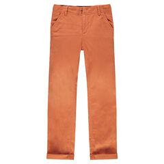 Junior - Pantalon coupe slim uni