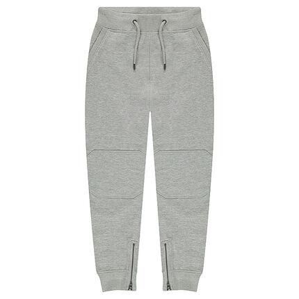 Junior - Pantalon de jogging en molleton avec fourche basse et zips