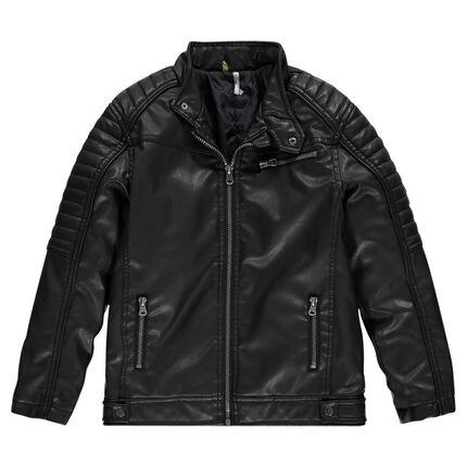 Junior - Veste en simili cuir à poches zippées