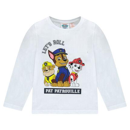 Tee-shirt manches longues en jersey print Pat Patrouille