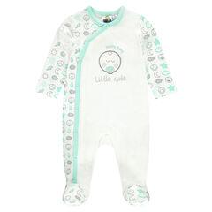 Dors-bien en jersey interlock avec ©Smiley Baby brodé en lurex