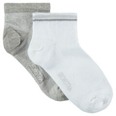 Lot de 2 paires de chaussettes courtes unies