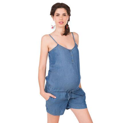 Combishort de grossesse en tencel
