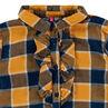 Chemise à carreaux avec manches ballon et volants