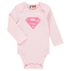 Body manches longues en jersey avec Superman™ en sequins