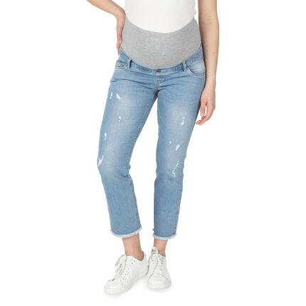 Jeans de grossesse 7/8ème avec bandeau haut en jersey