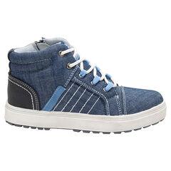 Bottillons effet jeans à lacets et zip du 24 au 27