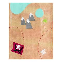 Nappe anniversaire Pirate motif carte au trésor 110 x 180 cm