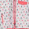 Combinaison de ski corail imprimée doublée micropolaire à capuche amovible