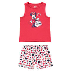 Pyjama avec débardeur print Minnie ©Disney et short imprimé all-over