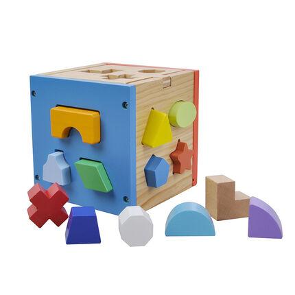 Cube d'activités en bois