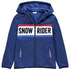Junior - Gilet de ski à capuche et poches zippées