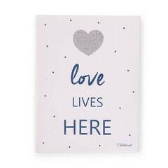 Peinture Love Lives Here - 30 x 40 cm