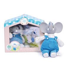 Doudou Alvin l'éléphant et son livre - Bleu