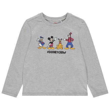 T-shirt manches longues chiné avec personnages de Disney printés