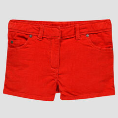 Short rouge en velours milleraies