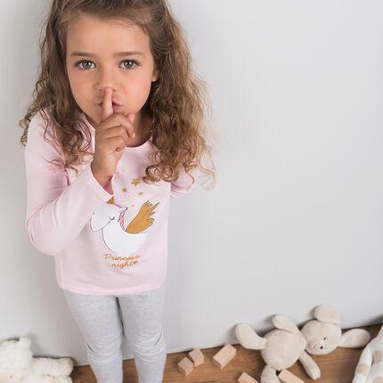Pyjama en jersey avec licorne pailletée printée