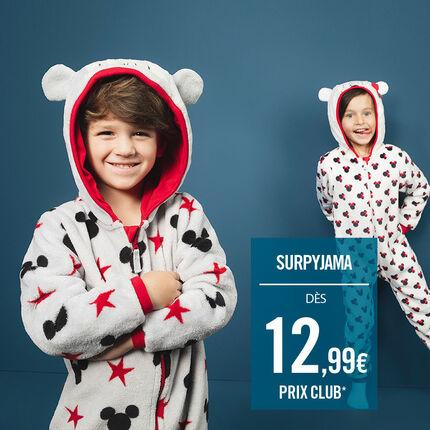Surpyjama en sherpa avec motifs Mickey all-over