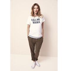 T-shirt manches courtes de grossesse à message printé contrasté